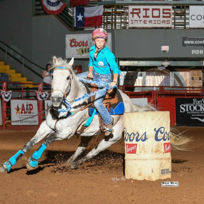 Youth Rodeo Barrel Racer And Breyer Model Horse Hobbyist
